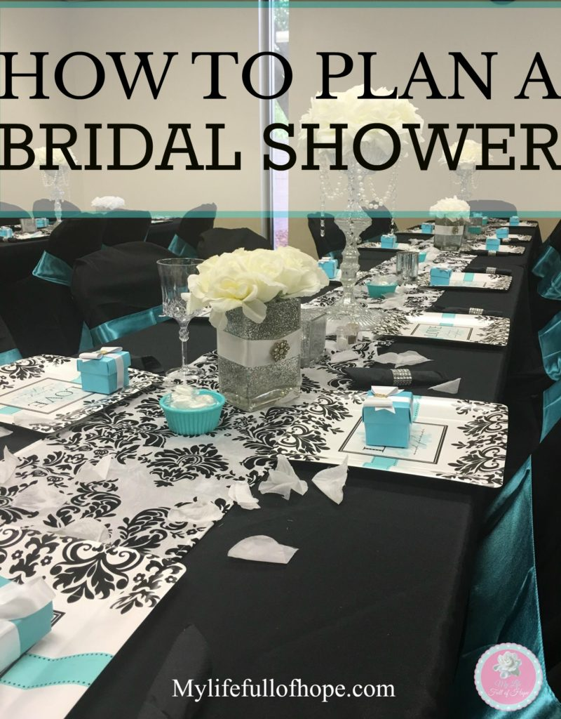 how to plan a bridal shower tiffany theme